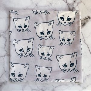 Other - Cat print pillow cover 14 x 14